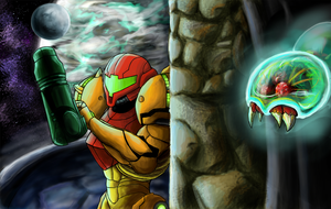 the hunt for Metroid by boxedcrow