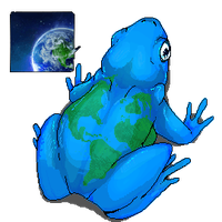 World Frog  -Eco-Cube- by fuzz-butt