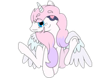 Request: Bubblegum the fluffy alicorn by roxy-cream