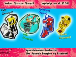 AgBoom: Charm Set 1 by ArtieDrawings
