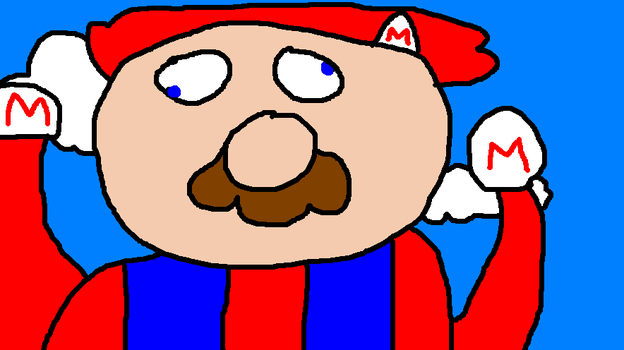 Derp Mario by Paintenderp