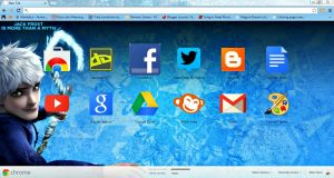 .:Jack Frost::Google Chrome Theme:. by xXChiharuDawnXx