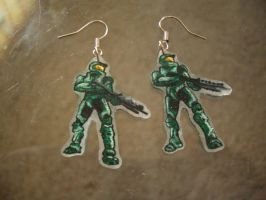 Master Chief earrings by estranged-illusions