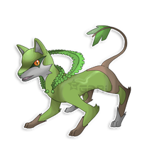 The Wolf Fakemon by Neliorra