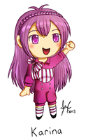 Christmas Collab: Chibi Karina by KurunaGirl