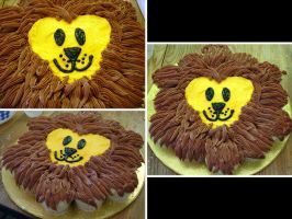 Happy Lion Cupcake Cake by echochan