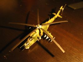 1/72 Scale MiL Mi-24 Hind D (Top) by Coffeebean2