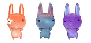 Bunny Adopts : Nebula : Two Left by lunettie