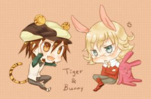 Mini Tiger and Bunny by f-wd