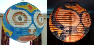 Lucha lamp shade by megapowerskills