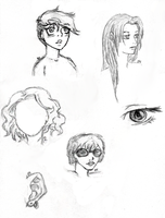 Face Sketches by B4ItWasMainstream