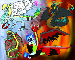 Dragon adoptables .:points:. by Loki-Ryuu