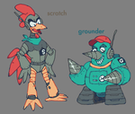 Scratch and Grounder by brotoad