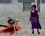 Fight Hit-Girl vs Baby Doll Rd 1 MMCB by Mary-Margret