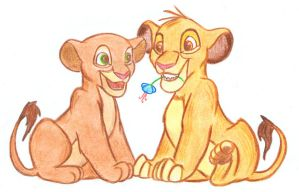 Simba and Nala by acid-drinker