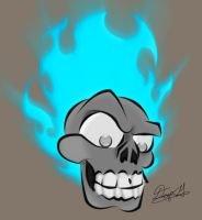 Flaming skull 3 by mastarofaqua