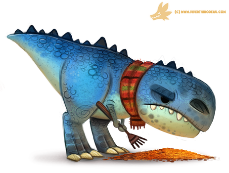 Daily Paint #1054. Autumn Dinos - Tyrannosaurus by Cryptid-Creations