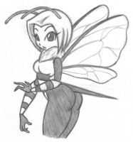 Hot Bee Sketch 2 by X-Cross