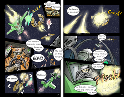 page 3 and 4 of the wing commander weekly comic by alexvontolmacsy