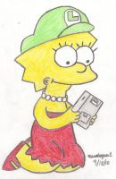 Lisa Playing Game Boy by MarioSimpson1