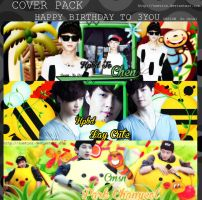 COVER PACK - HAPPY BIRTHDAY TO CHEN LAY CHANYEOL by suetics