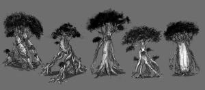 Tree Creatures by Baranha