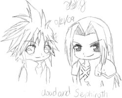 Cloud and Sephiroth Chibi by itachi3054