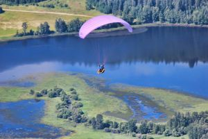 Glider over Columbia Valley by Joe-Lynn-Design