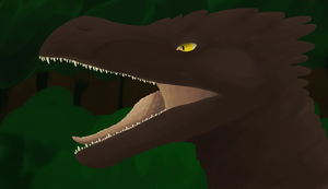 Utahraptor of somesort by BlackDragonArtist
