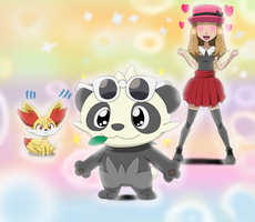 Serena's Pancham by Gamer5444