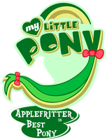 Fanart - MLP. My Little Pony Logo - Applefritter by jamescorck