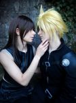 Cloud and Tifa by SerinuCeli