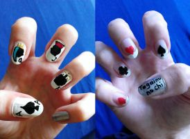 Playing Cards Nails by love---less