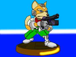 Super Smash Brothers Melee - Fox Trophy by GamezillarRespawn
