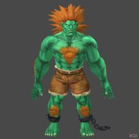 Blanka 1p update by DragonLord720