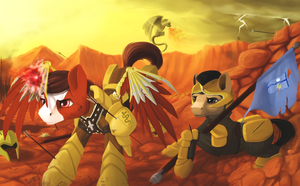 Equestrian Civil War by boomythemc