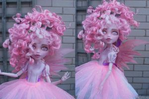 monster high custom repaint flump the fairy by Rach-Hells-Dollhaus