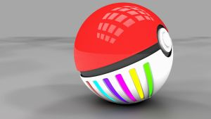 3D Pokeball Version 2 by ryanr08