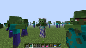Minecraft 12w32a snapshot Chainmail armored zombie by PokemonBrendan