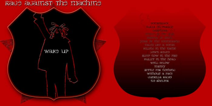 WAKE UP - cd cover 1 by ratm-club