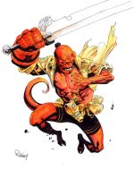 Hellboy  color by TomRaney