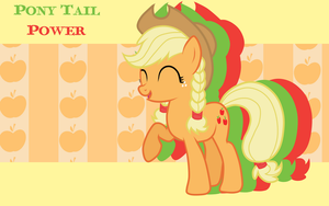 Pony Tail Power Applejack WP by AliceHumanSacrifice0