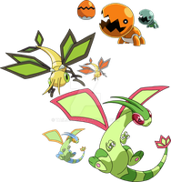 328, 329 and 330 - Trapinch Evolutionary Family by Tails19950