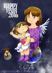 Ara and Celi Babies: Revisited -- New Year 2016 by JadineR