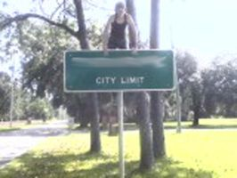 On top of City Limit sign 2 by DJ-Zemar
