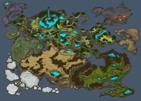 Worldmap WIP take 2...getting there by ArtByElde