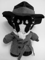 Rorschach Crochet/Craft Doll by arjeloops by Arjeloops
