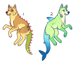 Dinodog and Sharkdog Auction [CLOSED] by necrovut