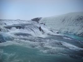 Unfrozen waterfalls by feainne-stock