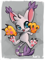 Gatomon by TheRaspberryFox